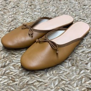 J.crew ay544 Zoe ballet mules in leather AY544 shoes